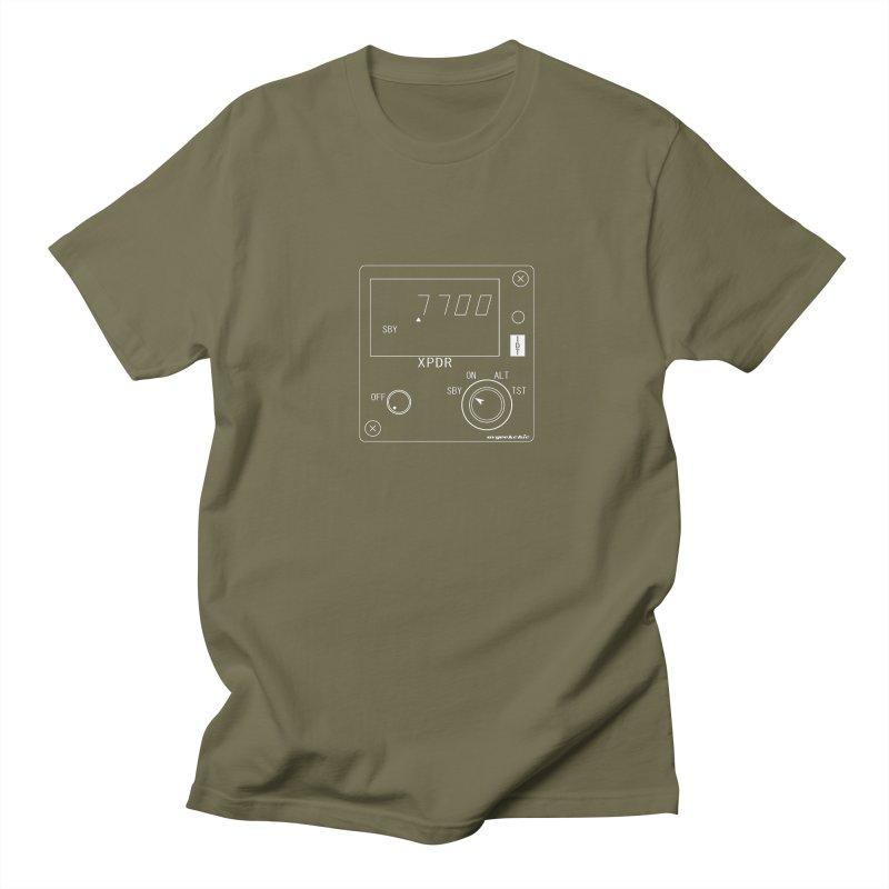 Squawk 7700 Emergency (Transparent) Men's Regular T-Shirt by avgeekchic's Artist Shop