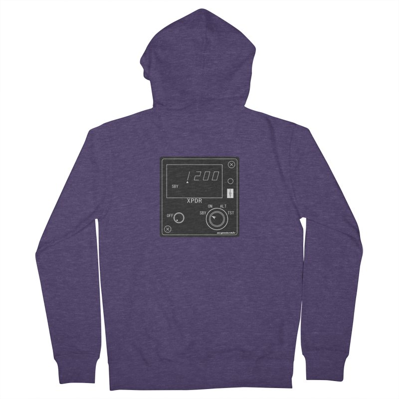 Squawk 1200 Men's French Terry Zip-Up Hoody by avgeekchic's Artist Shop