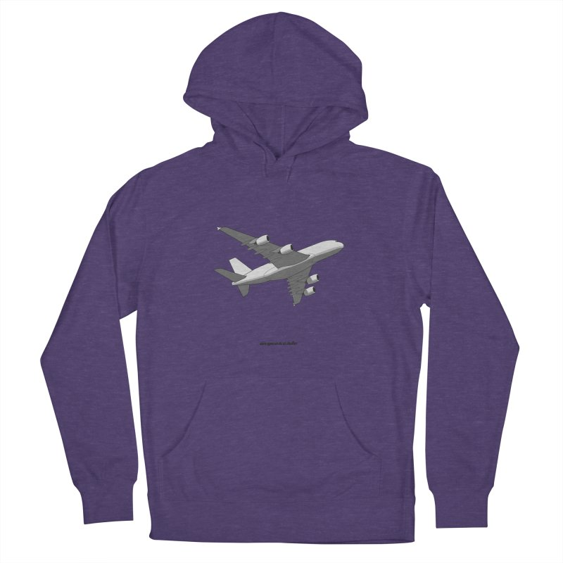 Airbus A380 Men's French Terry Pullover Hoody by avgeekchic's Artist Shop