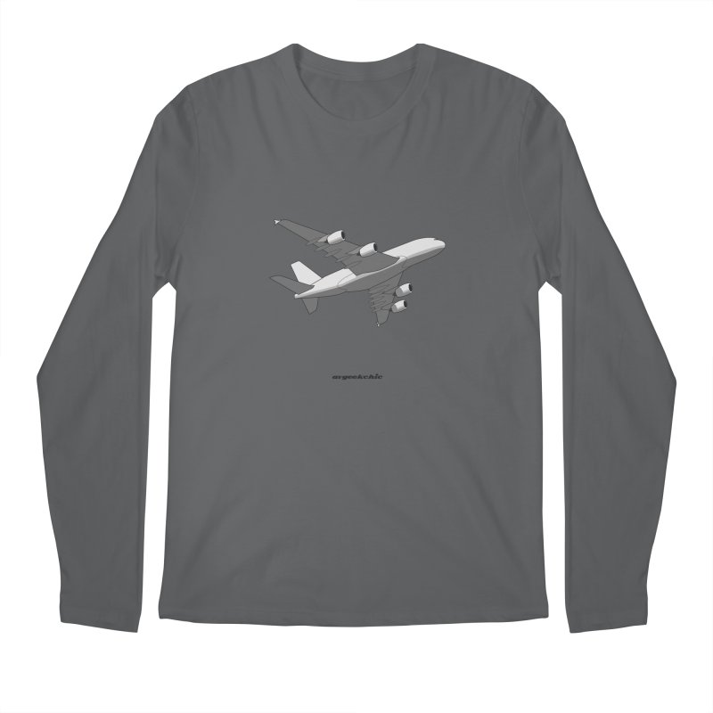Airbus A380 Men's Regular Longsleeve T-Shirt by avgeekchic's Artist Shop