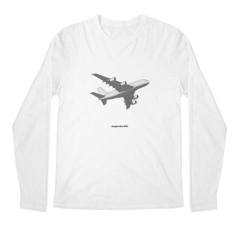 Airbus A380 Men's Regular Longsleeve T-Shirt by avgeekchic's Artist Shop