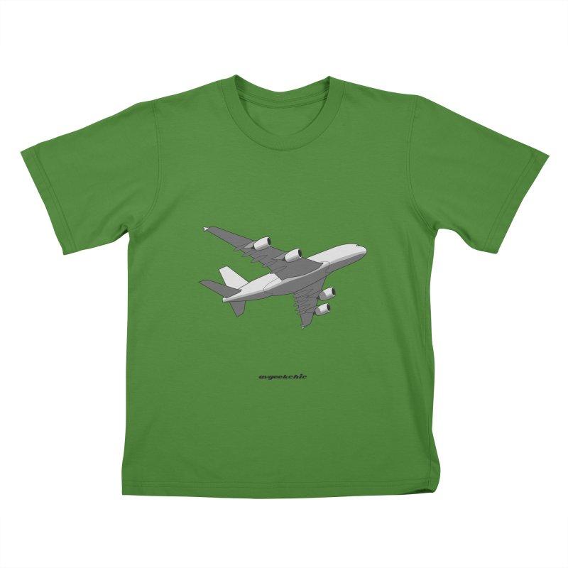 Airbus A380 Kids T-shirt by avgeekchic's Artist Shop