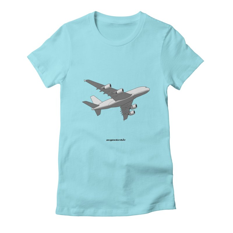 Airbus A380 Women's Fitted T-Shirt by avgeekchic's Artist Shop