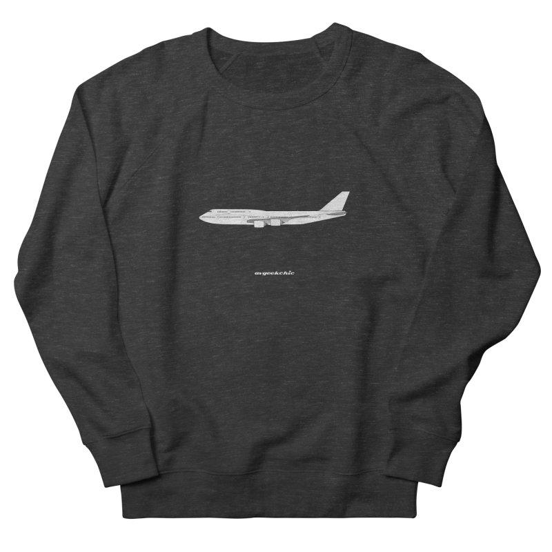 Boeing 747-8i Men's French Terry Sweatshirt by avgeekchic's Artist Shop