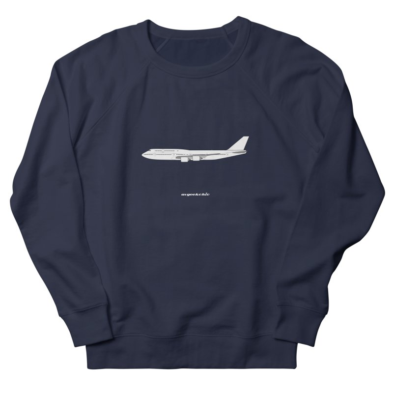 Boeing 747-8i Men's French Terry Sweatshirt by avgeekchic's Artist Shop