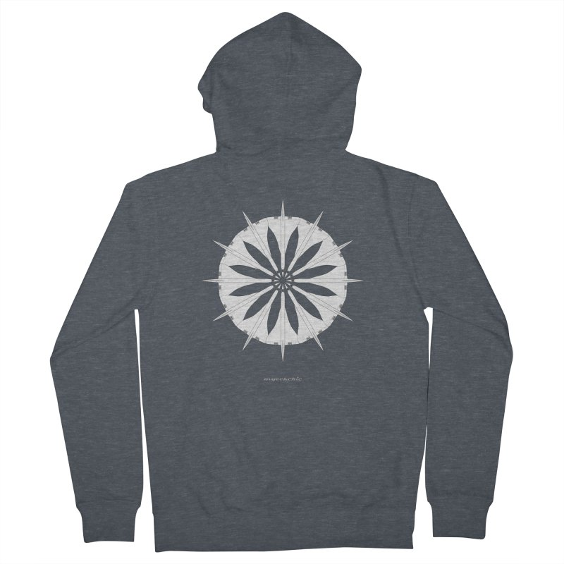 Concorde Mandala Men's French Terry Zip-Up Hoody by avgeekchic's Artist Shop