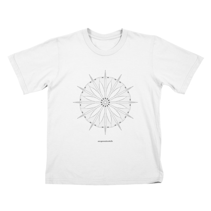 Concorde Mandala Kids T-shirt by avgeekchic's Artist Shop