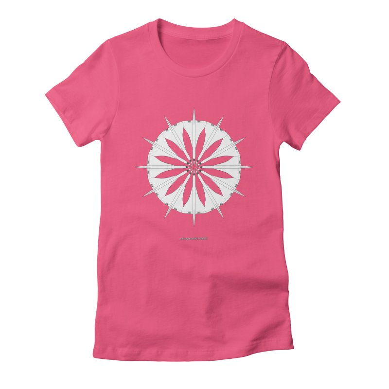 Concorde Mandala Women's Fitted T-Shirt by avgeekchic's Artist Shop