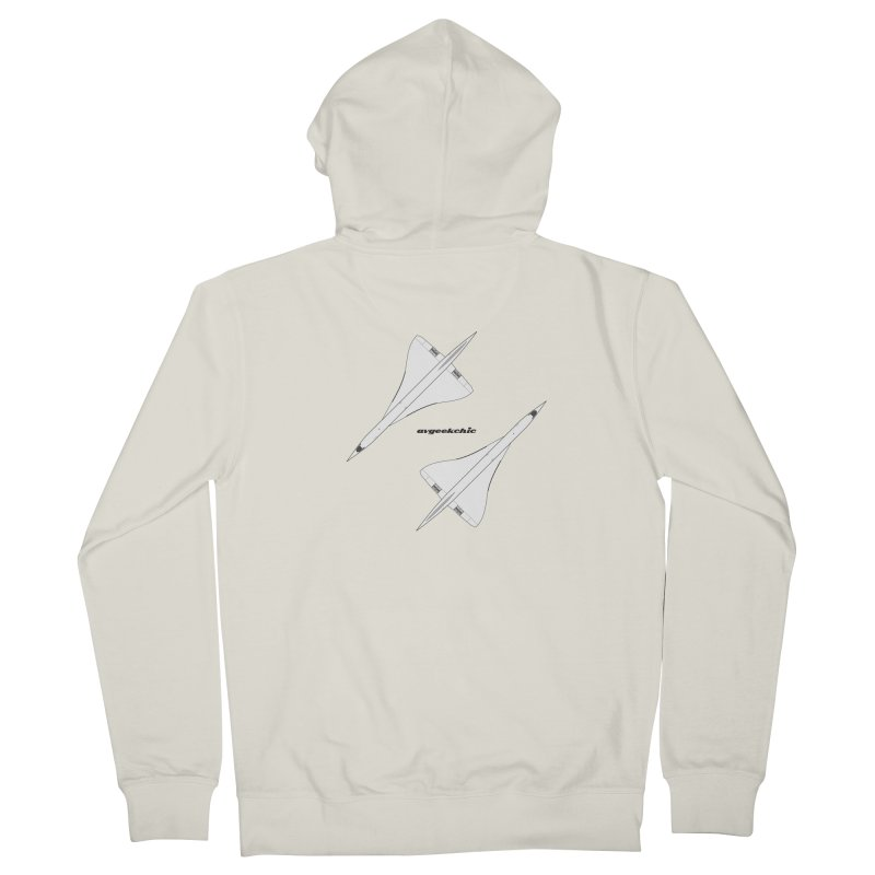 Concorde Double Women's French Terry Zip-Up Hoody by avgeekchic's Artist Shop