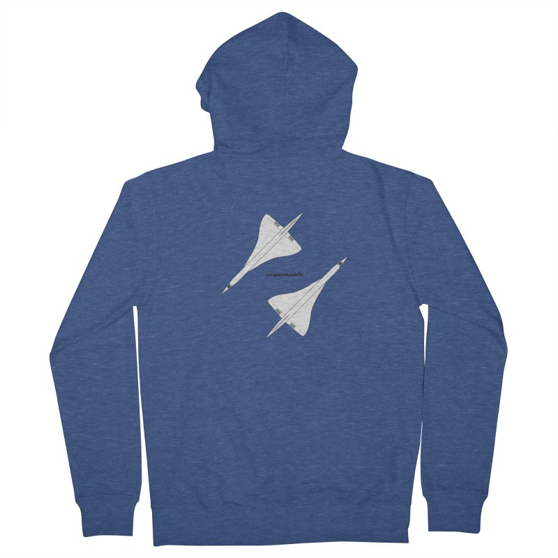 Concorde Double Men's French Terry Zip-Up Hoody by avgeekchic's Artist Shop