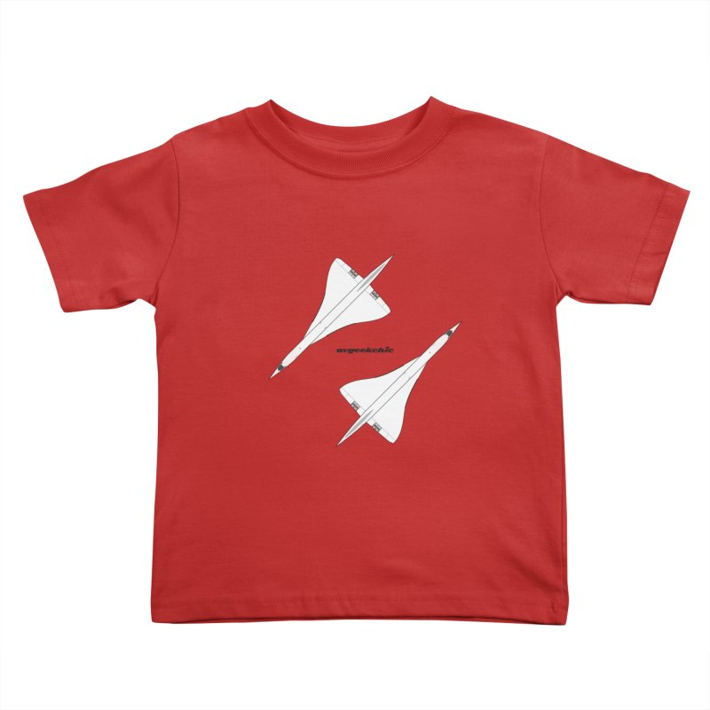 Concorde Double Kids Toddler T-Shirt by avgeekchic's Artist Shop