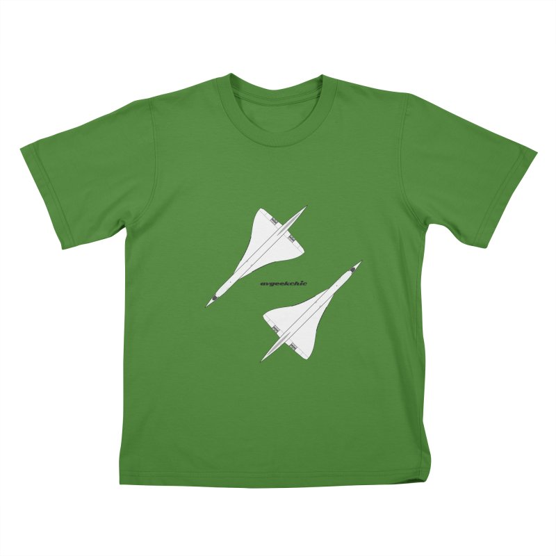Concorde Double Kids T-Shirt by avgeekchic's Artist Shop