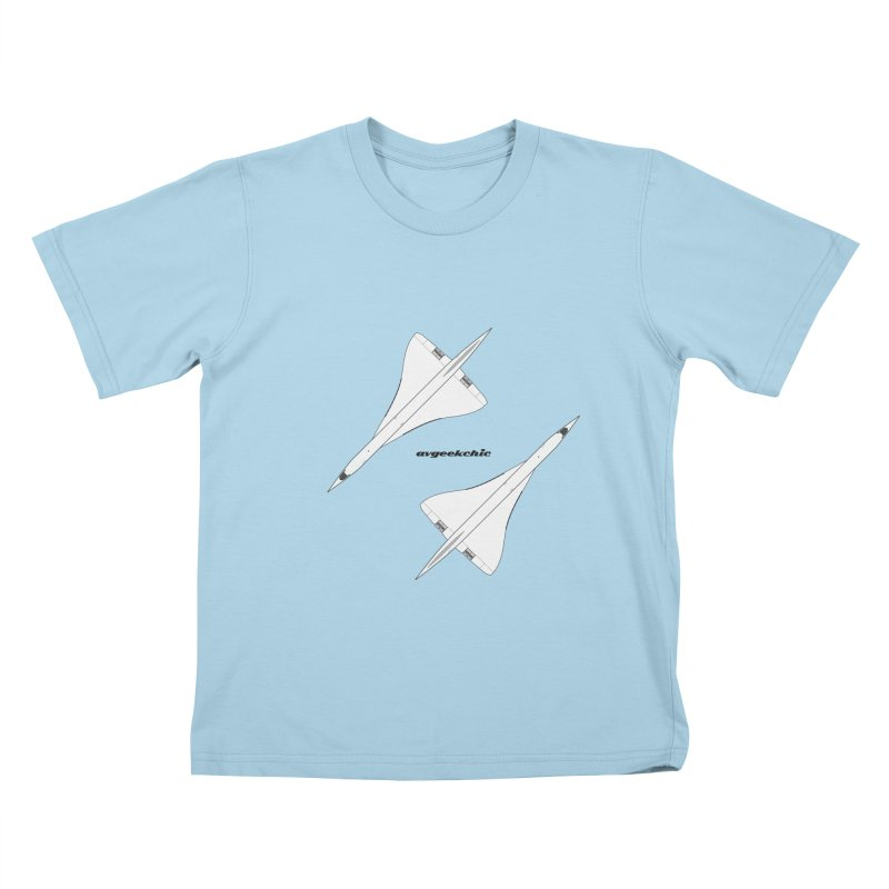 Concorde Double Kids T-Shirt by avgeekchic's Artist Shop