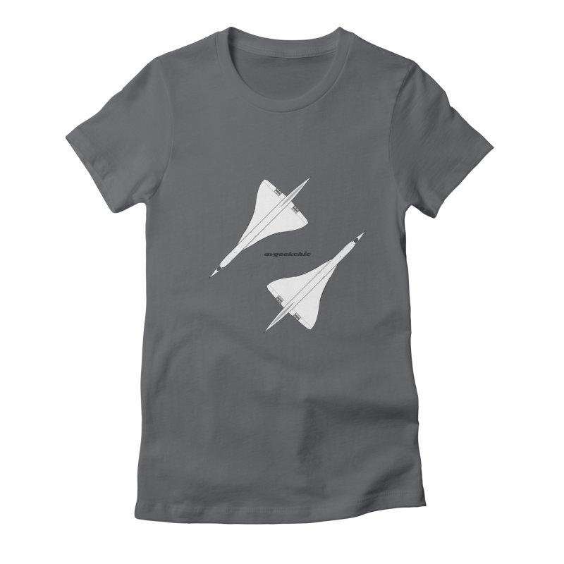 Concorde Double Women's T-Shirt by avgeekchic's Artist Shop