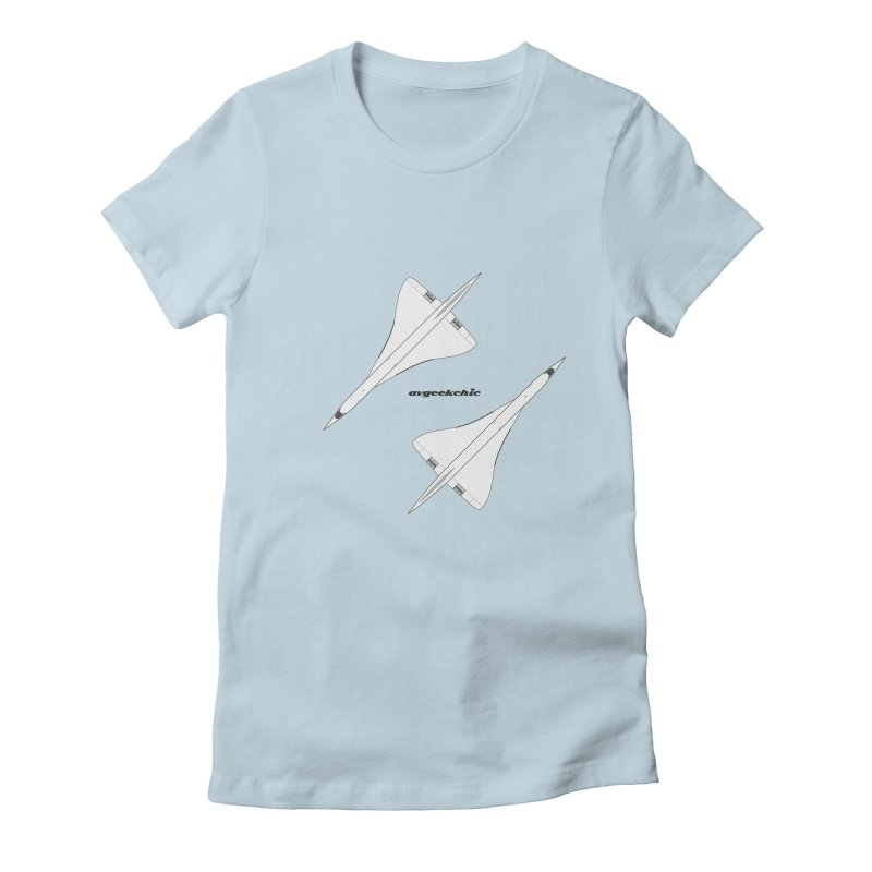 Concorde Double Women's Fitted T-Shirt by avgeekchic's Artist Shop