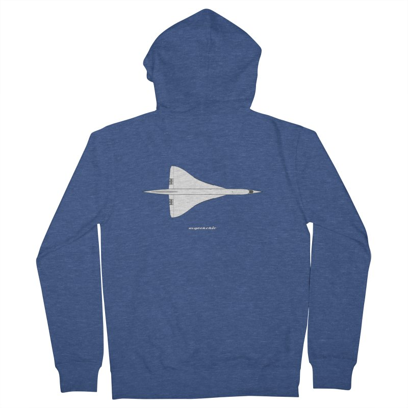 Concorde Men's Zip-Up Hoody by avgeekchic's Artist Shop