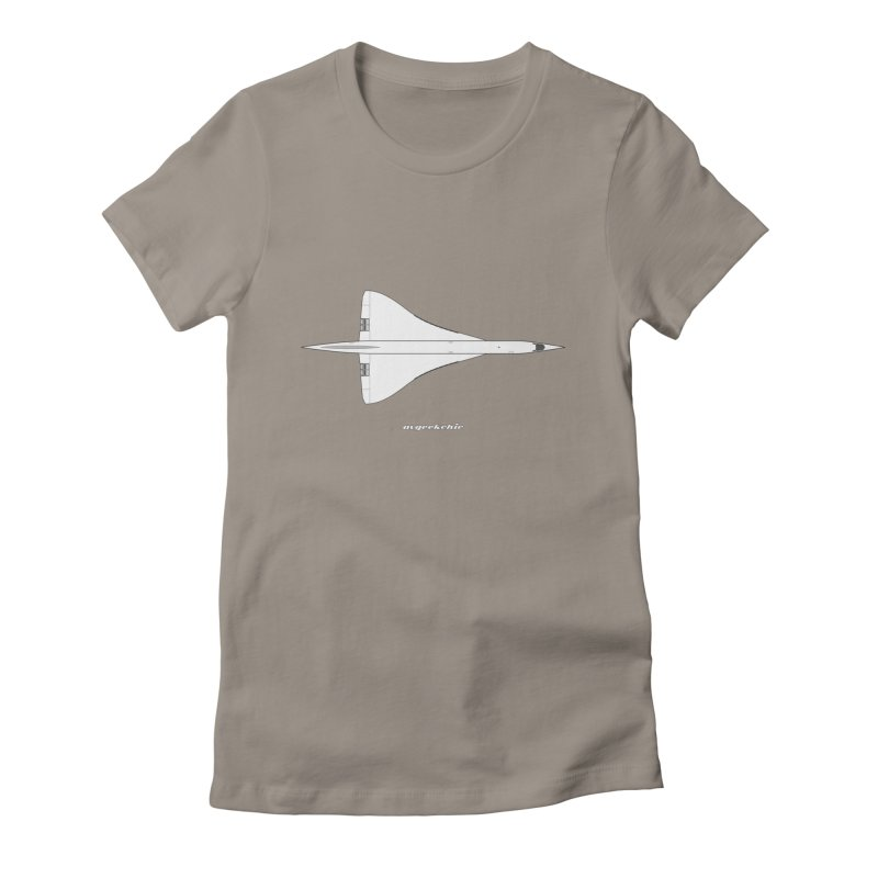 Concorde Women's Fitted T-Shirt by avgeekchic's Artist Shop