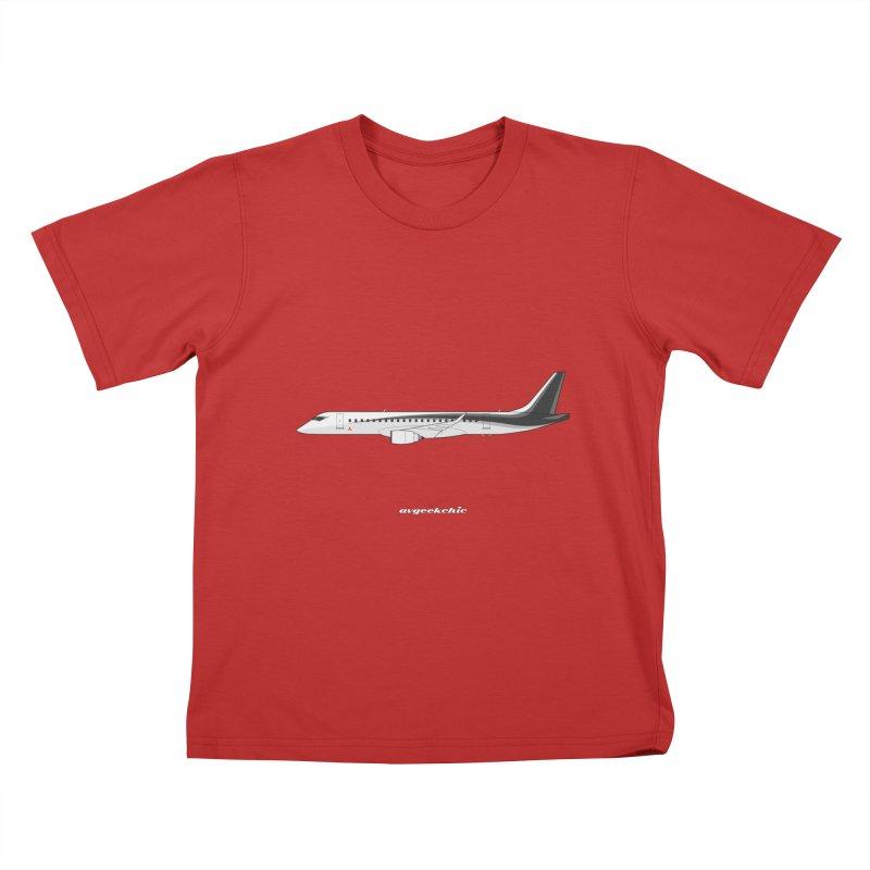 Mitsubishi Regional Jet Kids T-Shirt by avgeekchic's Artist Shop