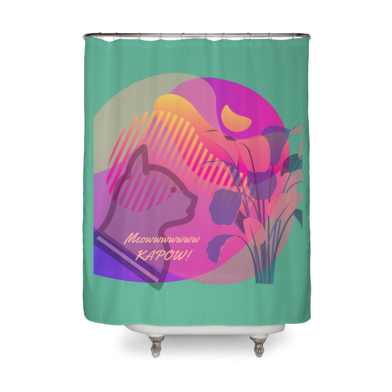 Meow Kapow Home Shower Curtain by avian30