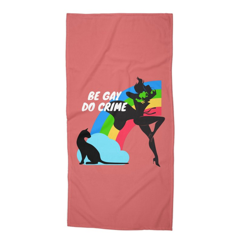 Be Gay Do Crime Accessories Beach Towel by avian30