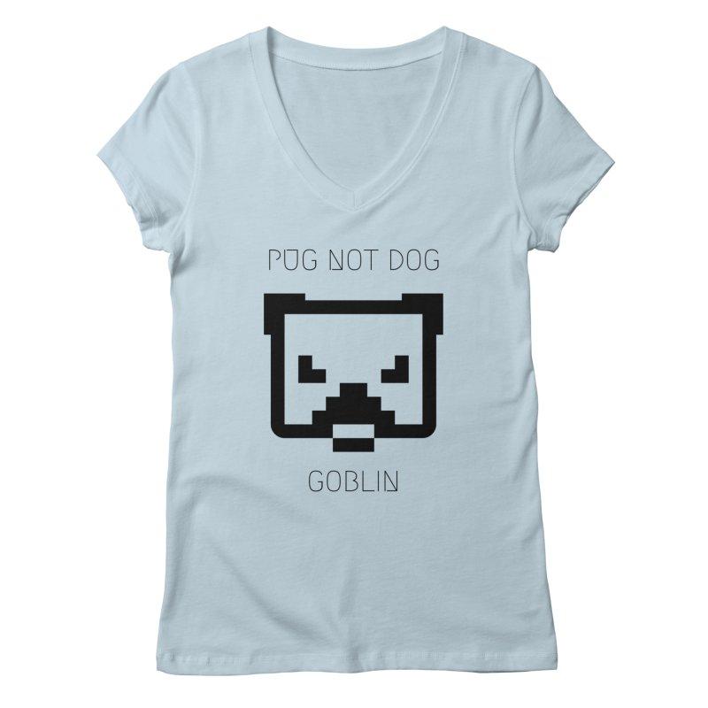 PUG NOT DOG Women's V-Neck by avian30