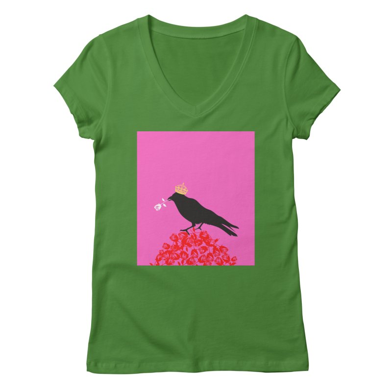 A Queen from the North Women's V-Neck by avian30