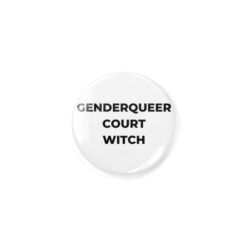 Genderqueer Court Witch Accessories Button by avian30