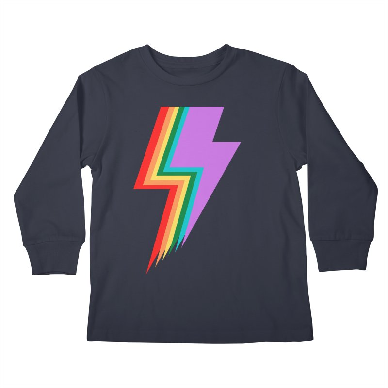 Glam Rock Pride Kids Longsleeve T-Shirt by avian30