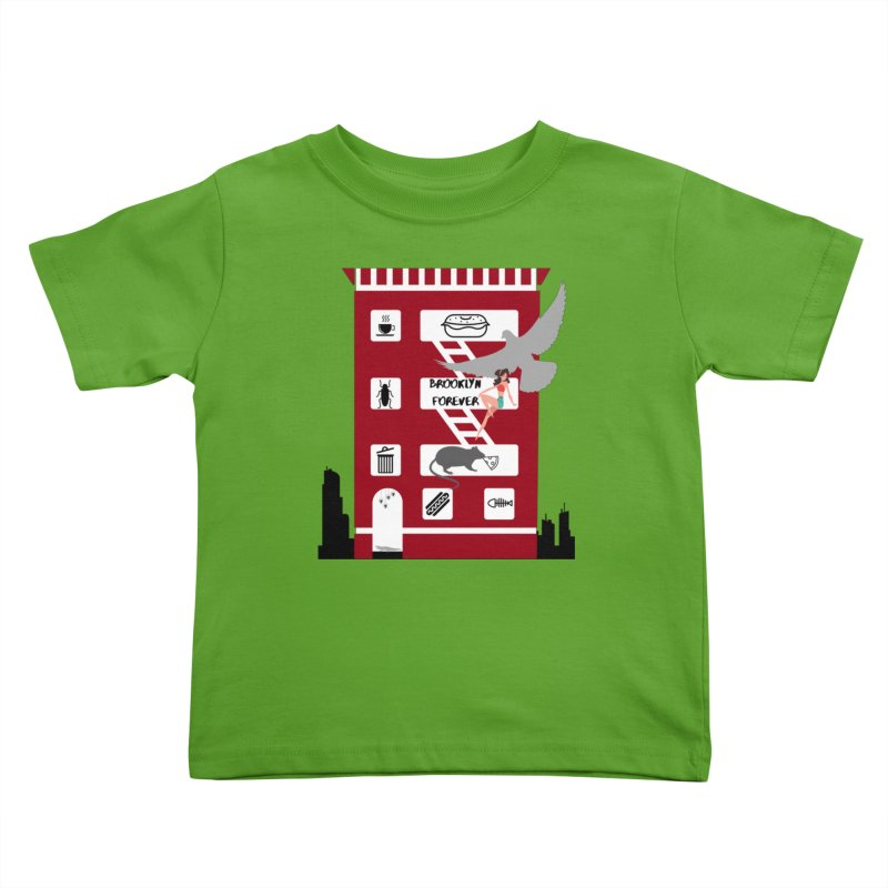 Brooklyn Forever Kids Toddler T-Shirt by avian30