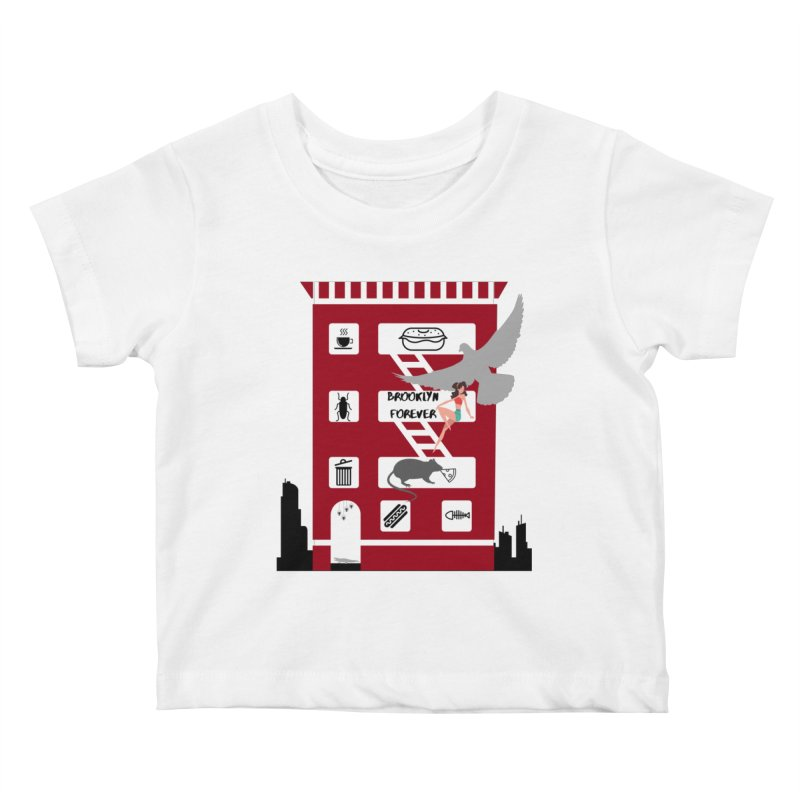 Brooklyn Forever Kids Baby T-Shirt by avian30