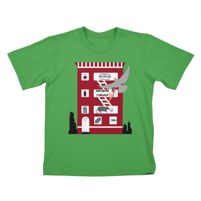 Brooklyn Forever Kids T-Shirt by avian30
