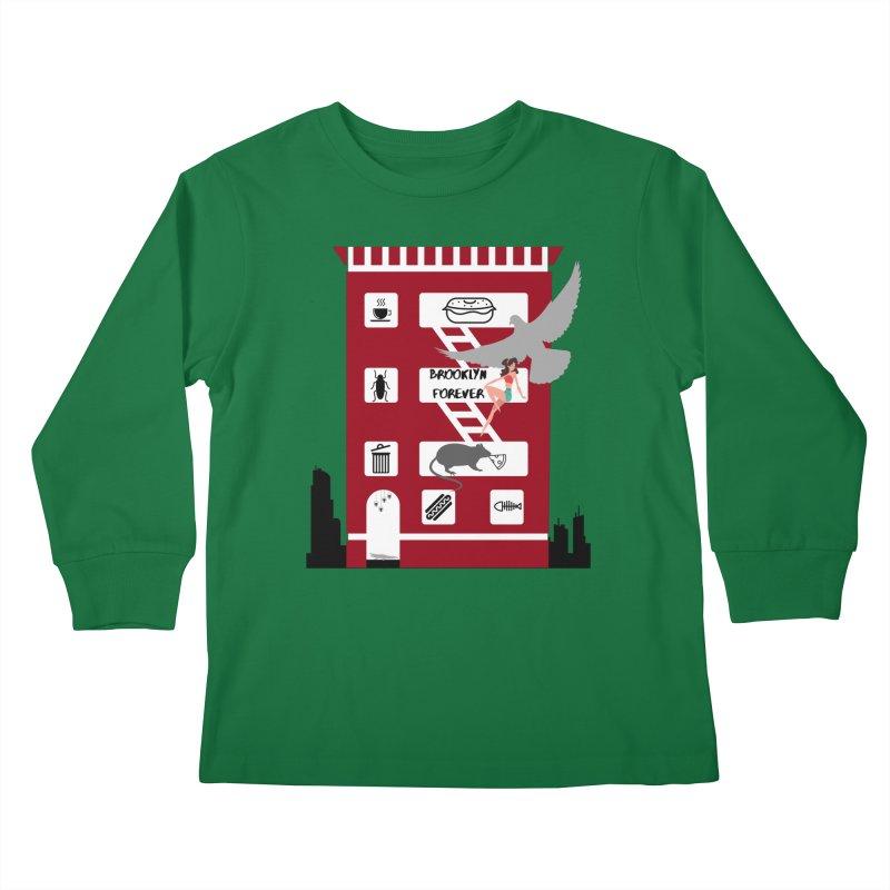 Brooklyn Forever Kids Longsleeve T-Shirt by avian30