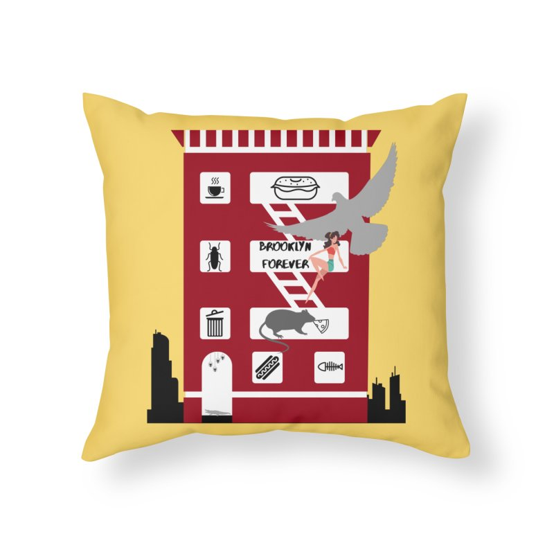 Brooklyn Forever Home Throw Pillow by avian30