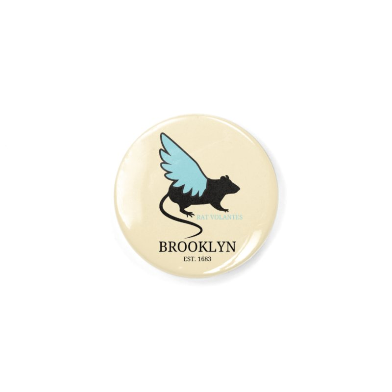 Flying Rat: Brooklyn Accessories Button by avian30