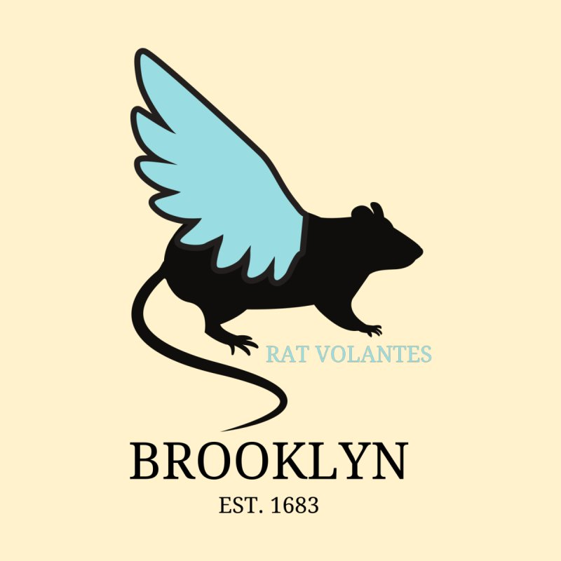 Flying Rat: Brooklyn Men's V-Neck by avian30
