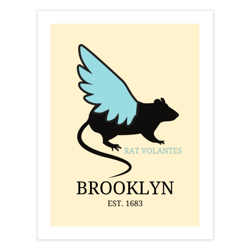 Flying Rat: Brooklyn Home Fine Art Print by avian30