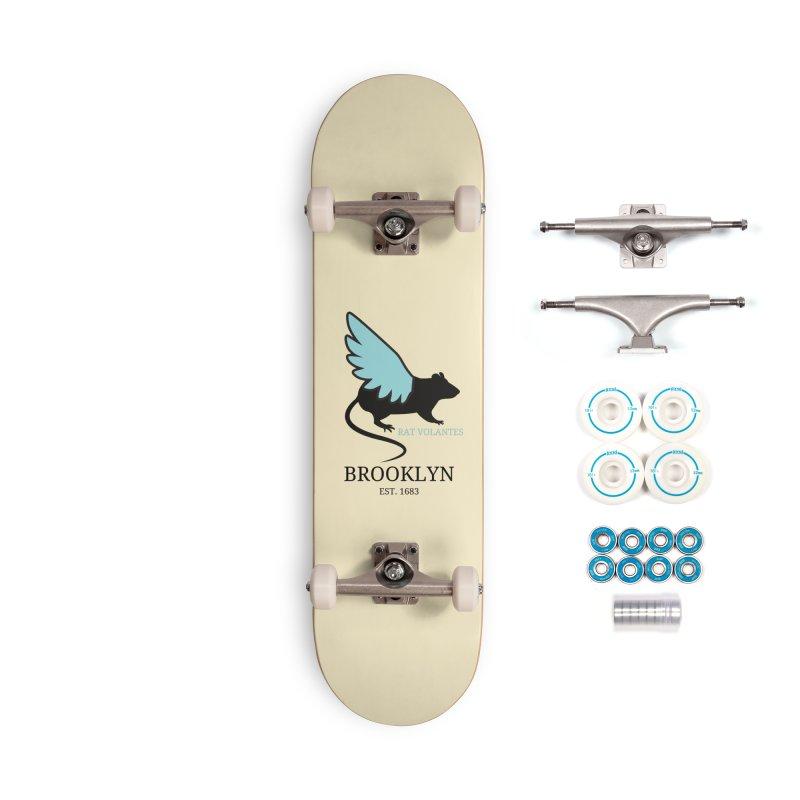 Flying Rat: Brooklyn Accessories Skateboard by avian30