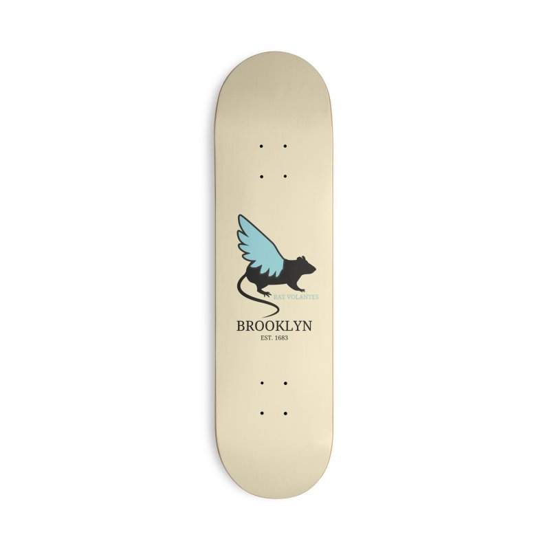Flying Rat: Brooklyn Accessories Skateboard by avian30