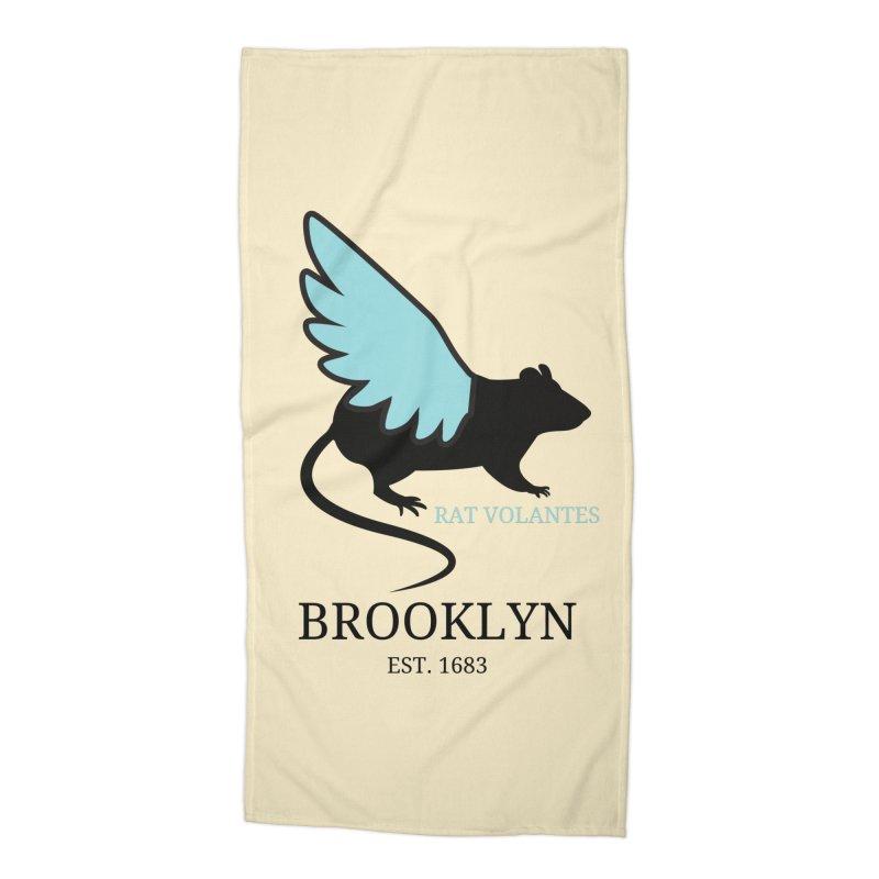 Flying Rat: Brooklyn Accessories Beach Towel by avian30