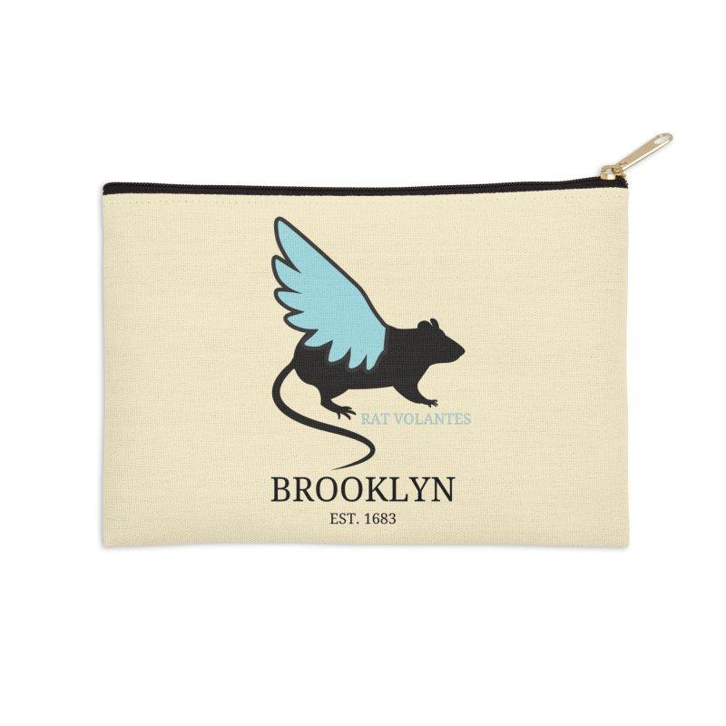 Flying Rat: Brooklyn Accessories Zip Pouch by avian30