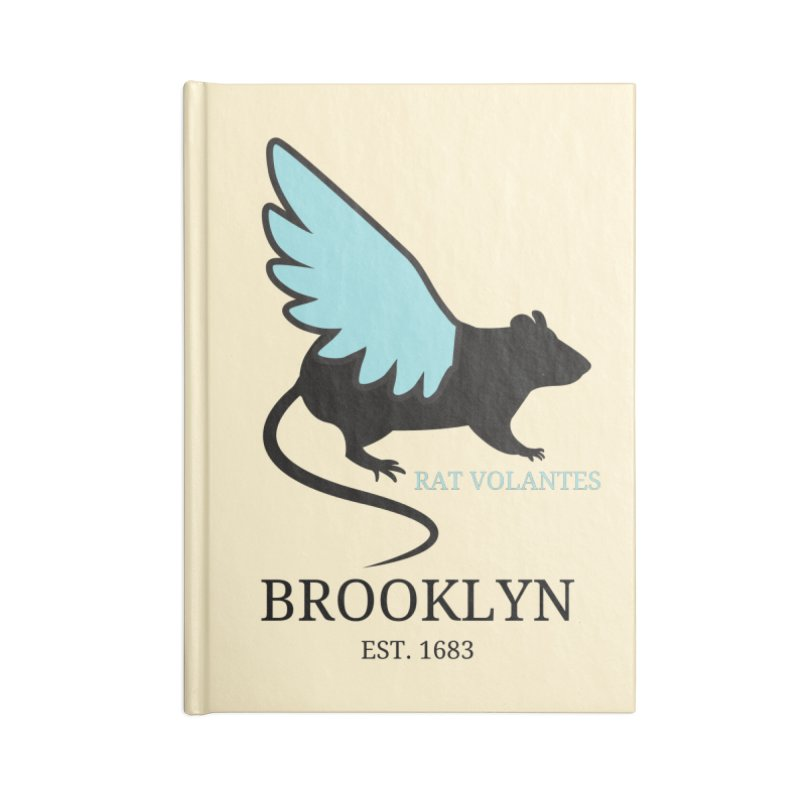 Flying Rat: Brooklyn Accessories Notebook by avian30