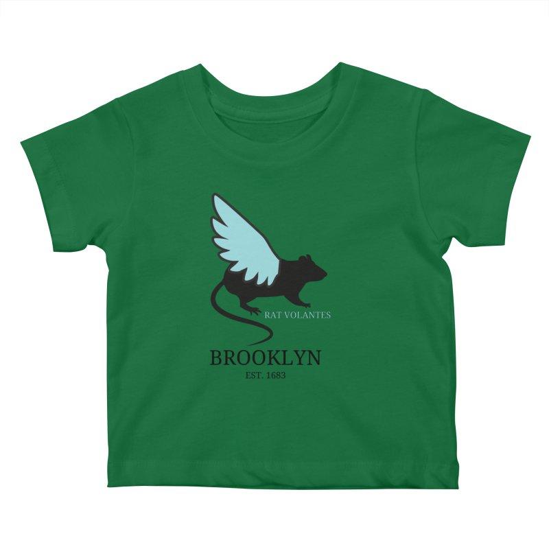 Flying Rat: Brooklyn Kids Baby T-Shirt by avian30
