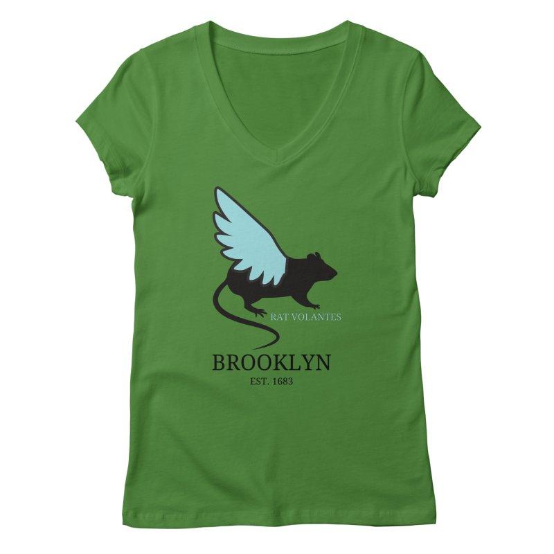 Flying Rat: Brooklyn Women's V-Neck by avian30