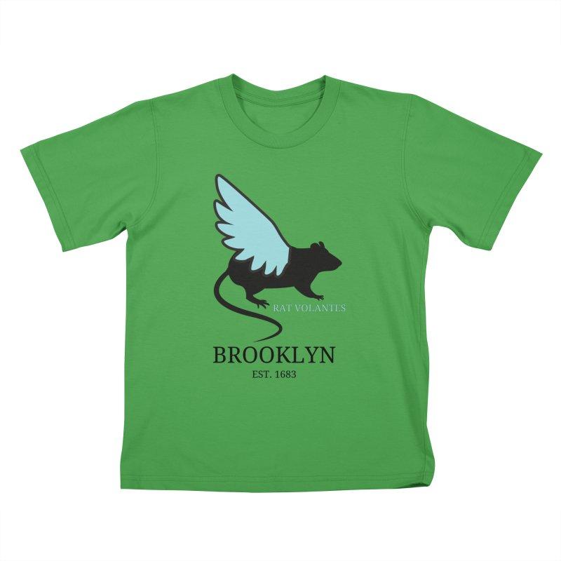 Flying Rat: Brooklyn Kids T-Shirt by avian30