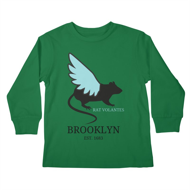 Flying Rat: Brooklyn Kids Longsleeve T-Shirt by avian30