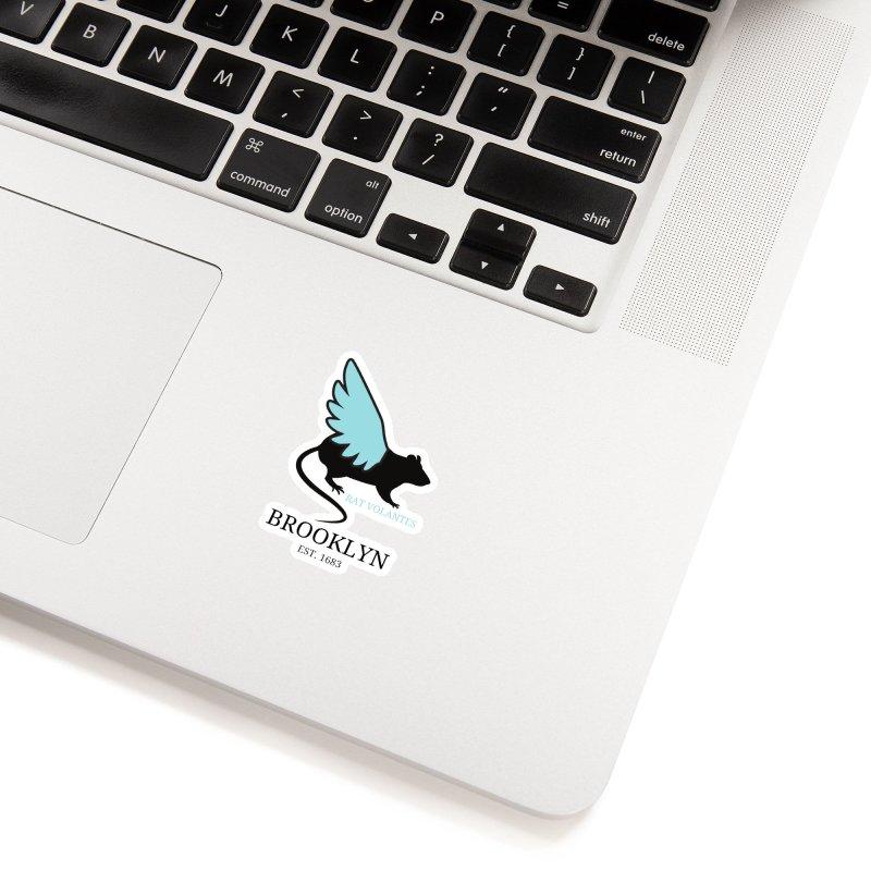 Flying Rat: Brooklyn Accessories Sticker by avian30