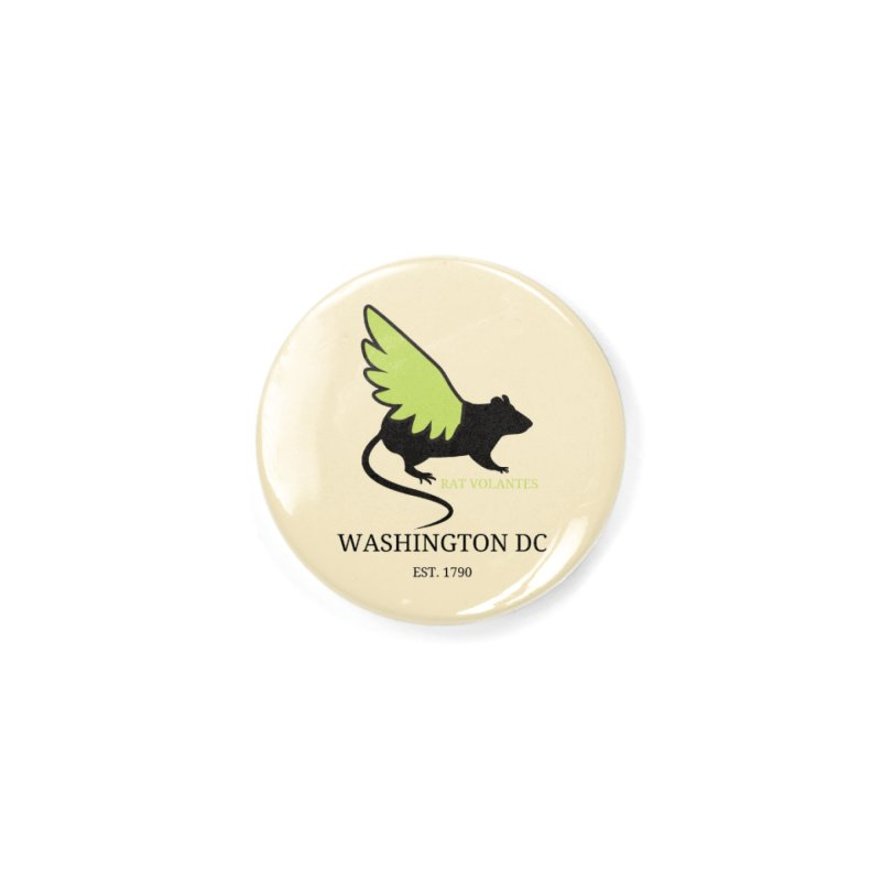 Flying Rat: Washington DC Accessories Button by avian30