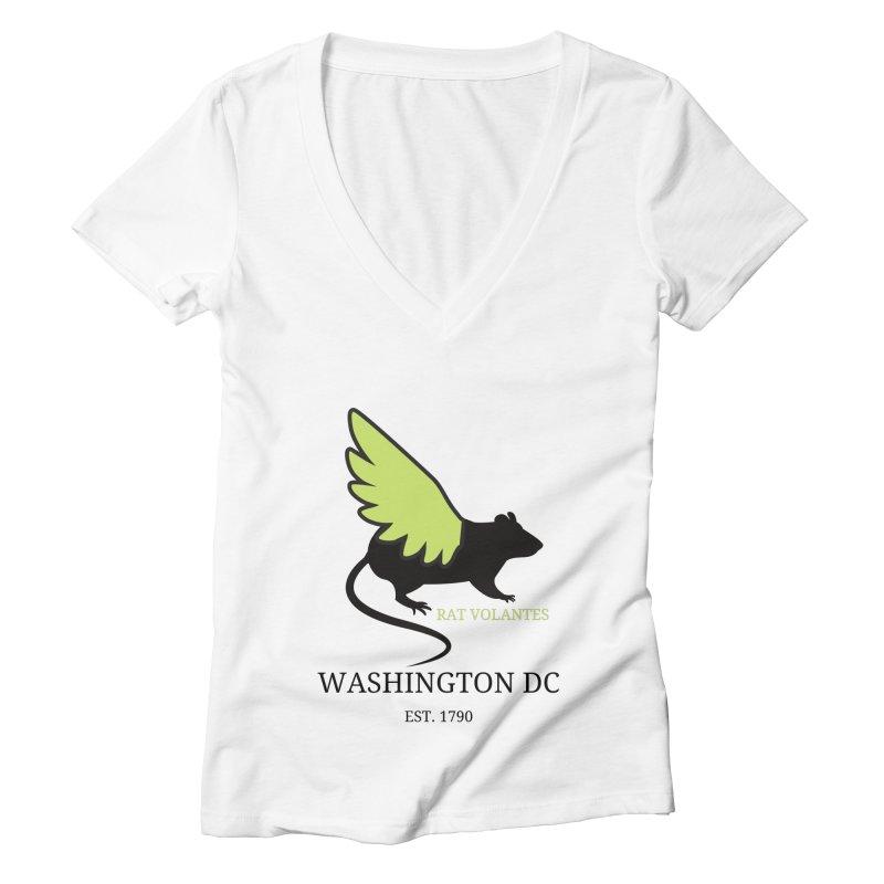 Flying Rat: Washington DC Women's V-Neck by avian30
