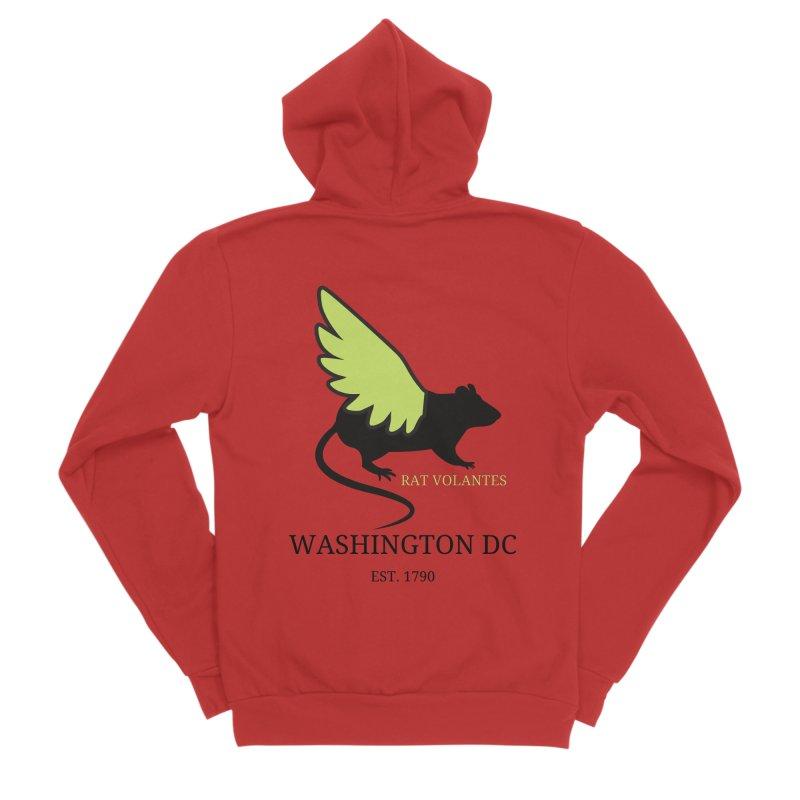 Flying Rat: Washington DC Men's Zip-Up Hoody by avian30
