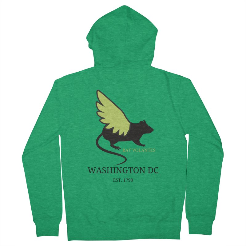 Flying Rat: Washington DC Men's Zip-Up Hoody by avian30